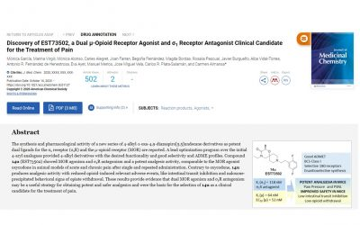 New Lead Optimisation paper in collaboration with Esteve