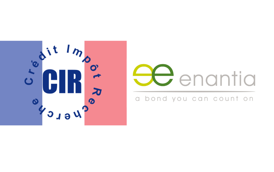 Enantia's logo featuring the CIR logo with the french flag as background